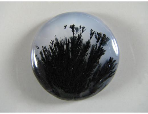Marfa Black Plume Agate Designer Cabochon