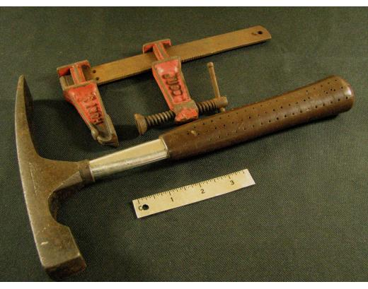 LAPIDARY ROCK HAMMER AND JUDD SPEED CLAMP