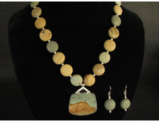 OWYHEE PICTURE JASPER NECKLACE SET