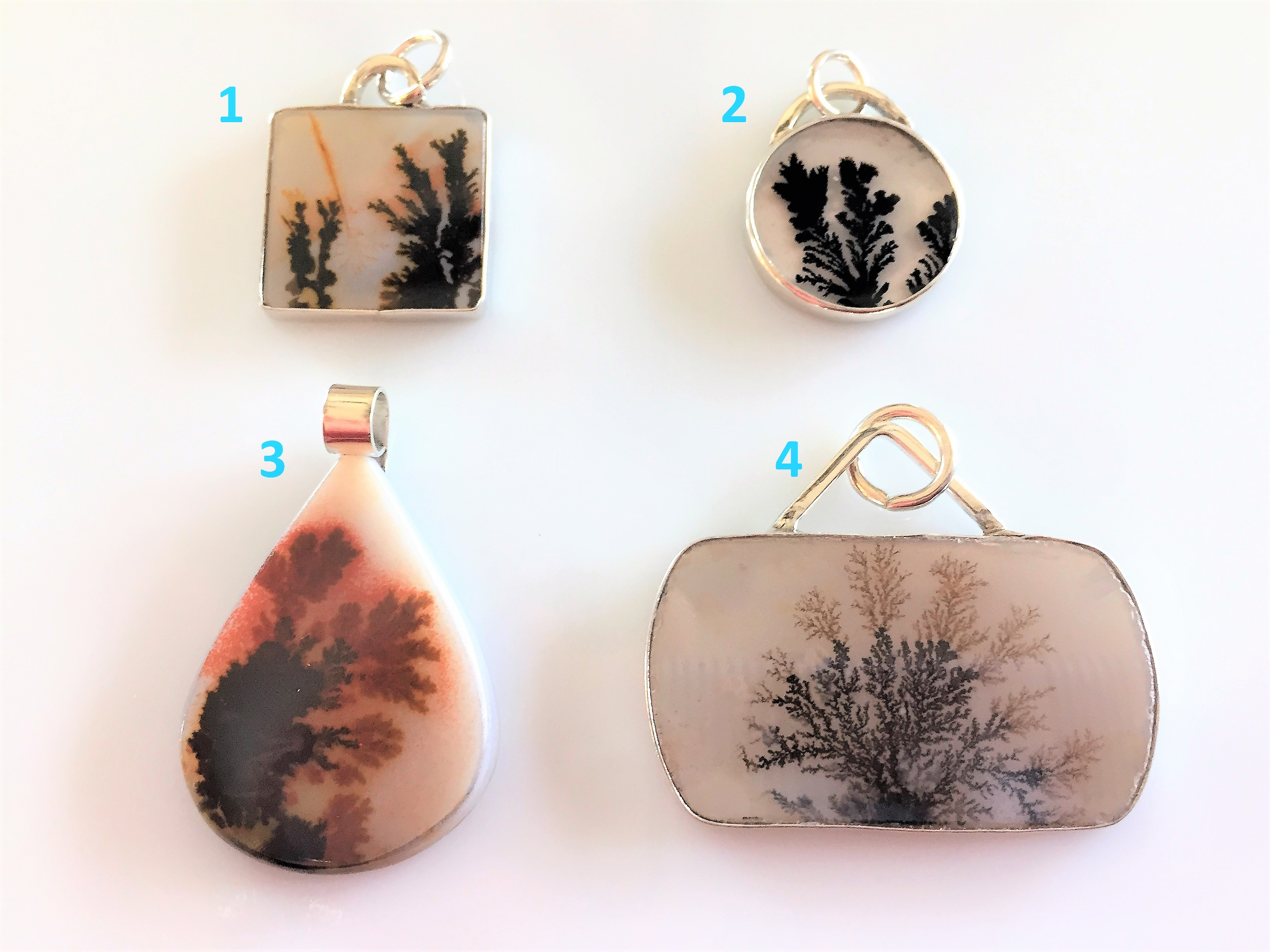 Products page shaped stones custom jewelry handcrafted dendritic agate pendants for necklaces aloadofball Images