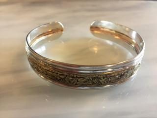 Sterling Silver Gold Filled Cuff Bracelet
