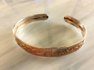 Sterling Gold Filled Cuff Bracelet