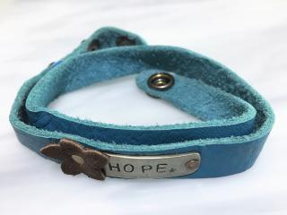"Leather Wrap ""HOPE"" Bracelet"