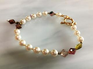 Pearl and Swarovski Beaded Bracelet