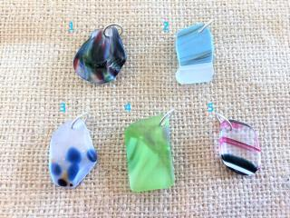 Handcrafted Fused Glass Pendants for Necklaces