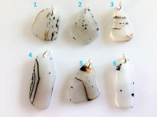 Handcrafted Montana Agate Pendants for Necklaces