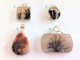 Handcrafted Dendritic Agate Pendants for Necklaces