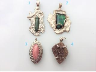 Handcrafted Semiprecious Stone Pendants for Neckaces