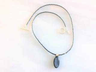 Druzy Quartz Pendant Beaded Necklace