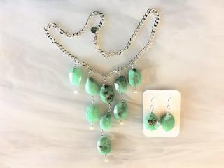 Chrysoprase Bead Hankerchief Necklace