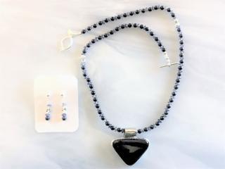 Rare Azurite Pendant Necklace