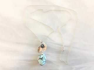 Southwestern Turquoise Pendant Necklace