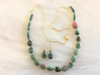 Zeosite Beaded Goldfilled Necklace