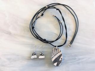 Anasazi Pottery Chard Pendant Leather Necklace