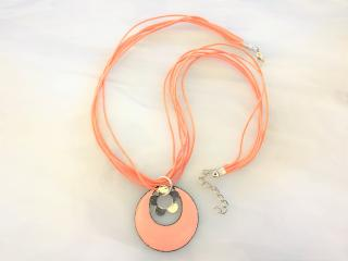 ENAMELED COPPER PENDANT AND NECKLACE