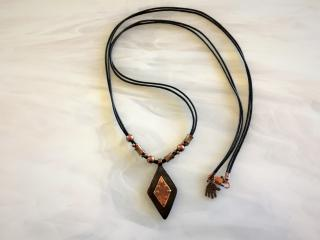 RIVETED COPPER PENDANT AND NECKLACE