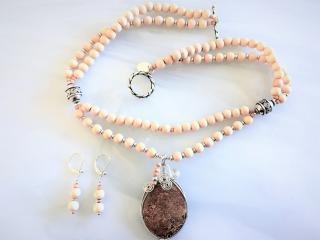 Starburst Jasper Necklace and Pendant