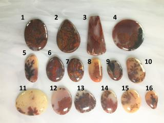 Red Plume Agate Designer Cabochons