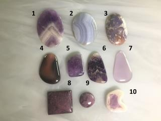 Amethyst and Lace Designer Cabochons