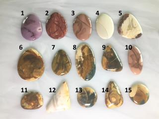 Morrisonite and Willow Creek Jasper Designer Cabochons