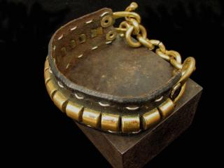 BRONZE AND LEATHER BRACELET